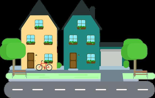 dva domky u cesty