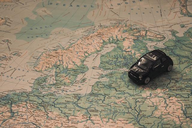 Norsko mapa + autíčko
