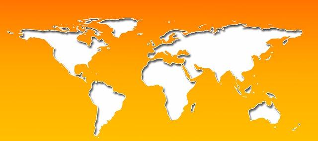 mapa světa a globalizace