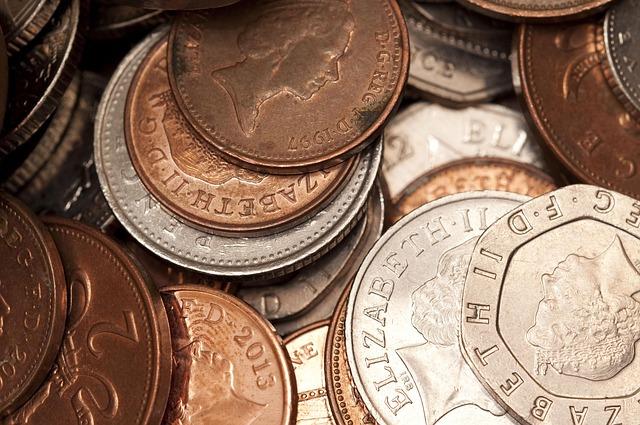 anglické peníze